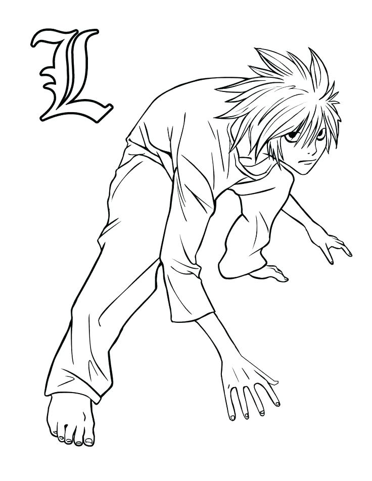 736x952 Death Note Coloring Pages
