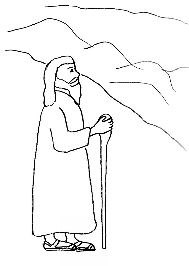638x896 Bible Story Coloring Page For Death Of Moses Free Bible Stories