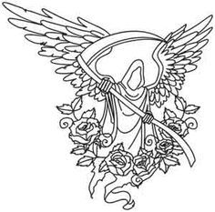 236x233 Death Angel Coloring Page Lineart Angels