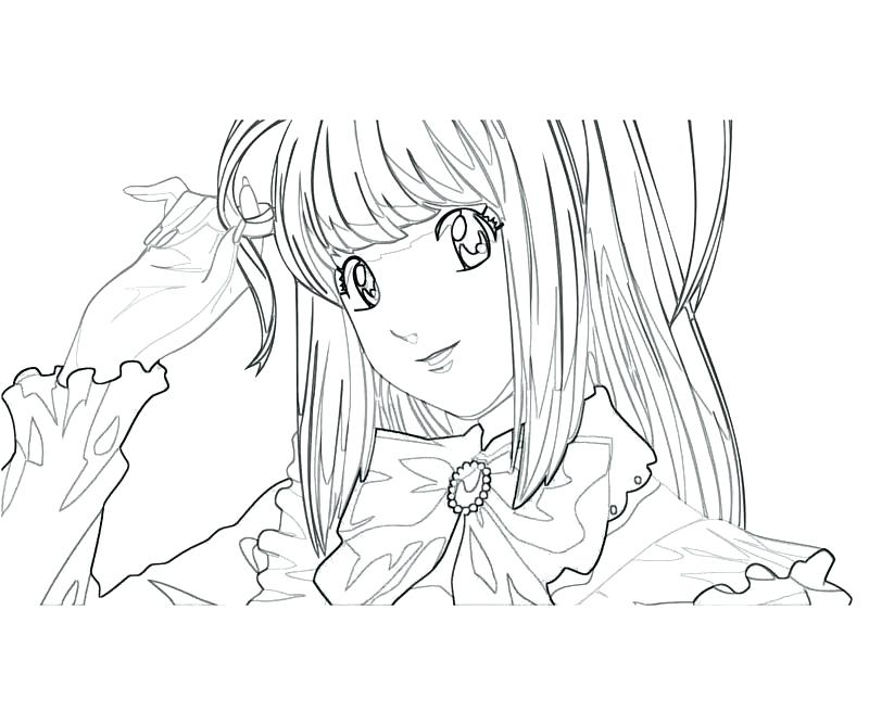 800x667 Death Note Coloring Pages Death Note Anime Coloring Pages L Death