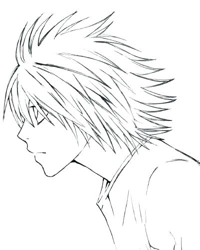 401x500 Death Note Coloring Pages Death Note Coloring Pages L Slouching