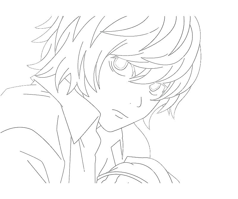 800x667 Death Note Coloring Pages Death Note N Near Drawing Coloring L