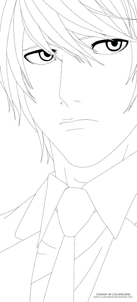 466x1024 Death Note Coloring Pages L Death Note Coloring Pages