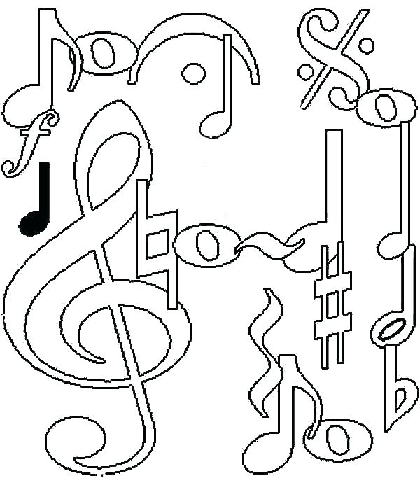 600x683 Music Note Coloring Pages Death Note Coloring Pages Note Coloring