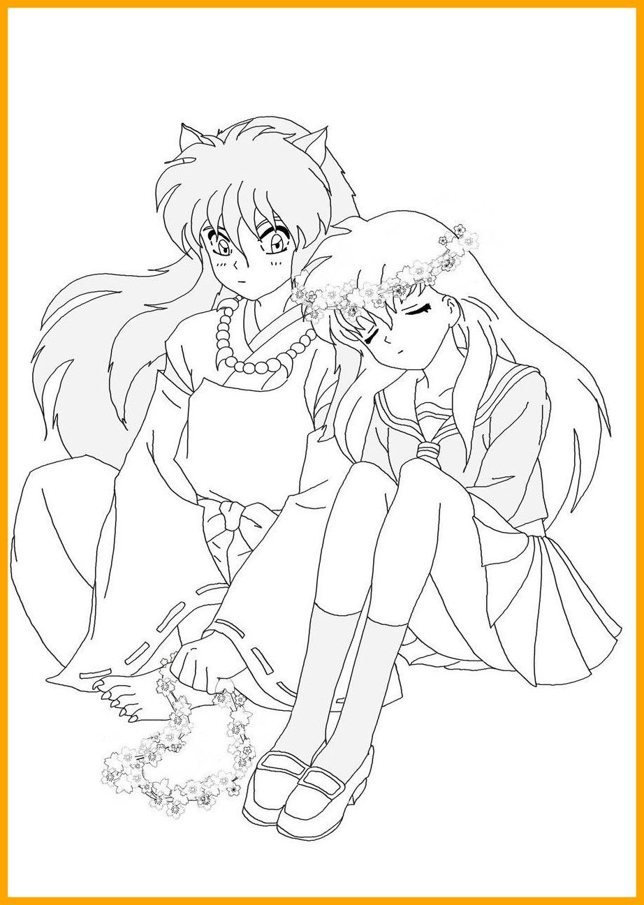 922x1296 The Best Printable Inuyasha Coloring Pages For Kids Anime