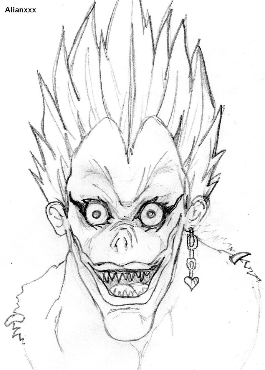 900x1257 Death Note Drawing