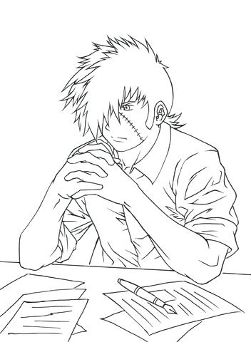 352x480 Death Note Coloring Pages Anime Boy And Girl Hugging Coloring