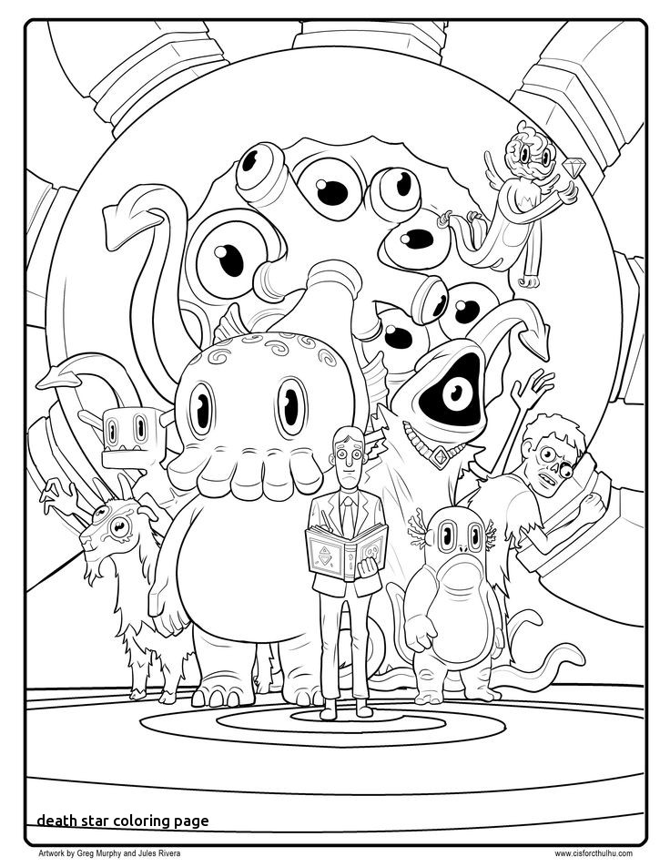 Death Star Coloring Page