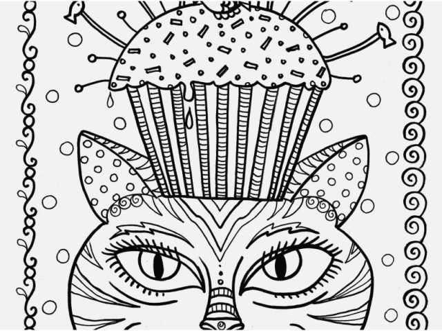 640x480 Grown Up Coloring Pages Cats View Adult Cat Cup Cake