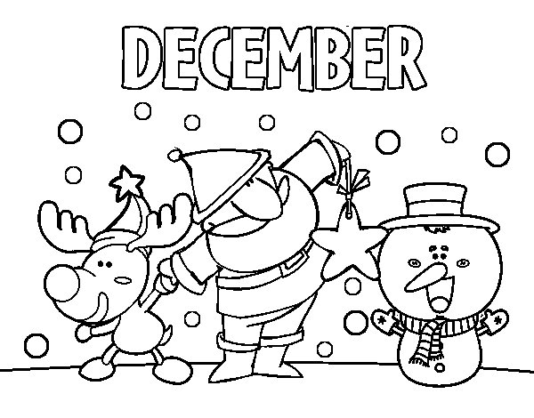 The best free December coloring page images. Download from ...