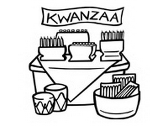 570x428 December Holiday Kwanzaa Coloring Pages