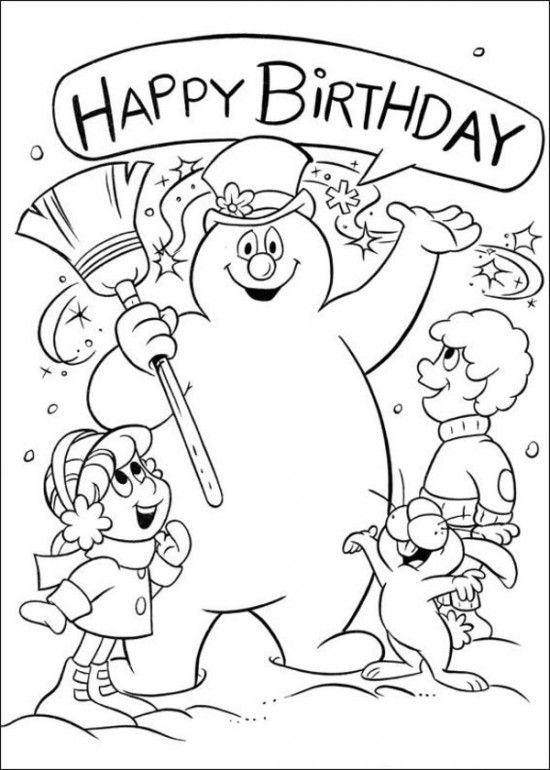 550x770 Free Printable Frosty The Snowman Coloring Pages Snowman, Snow