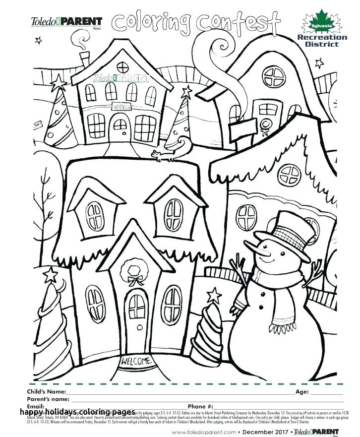 726x881 Happy Holidays Coloring Pages