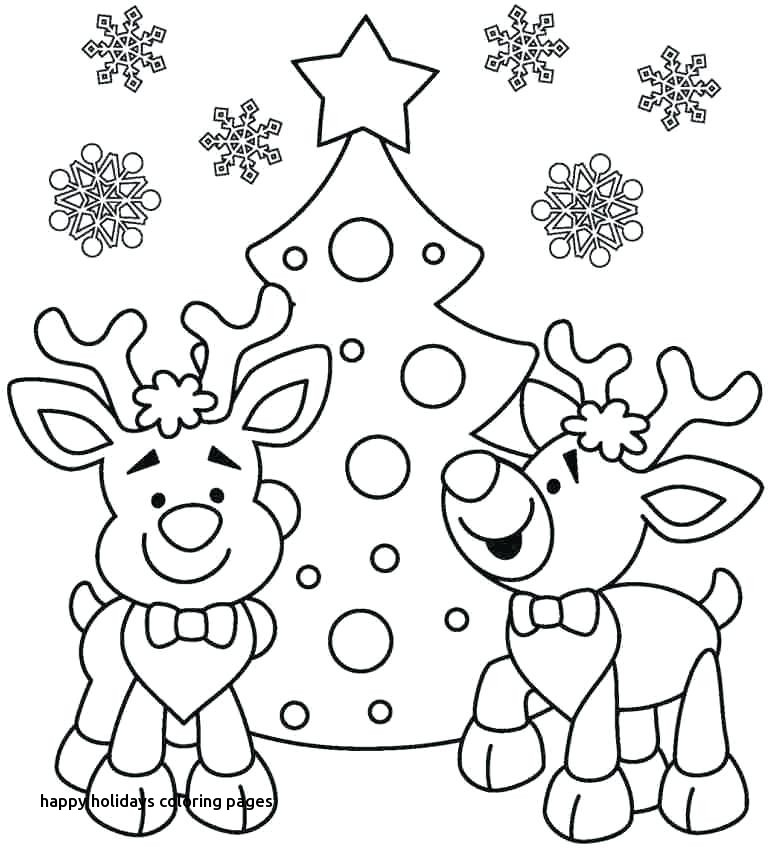 770x852 Printable Coloring Pages Happy Holidays Free Celebrations December