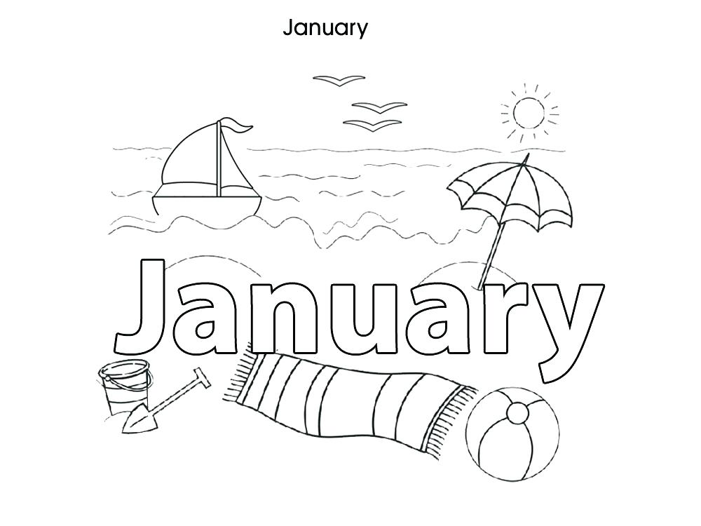 1000x750 December Coloring Page