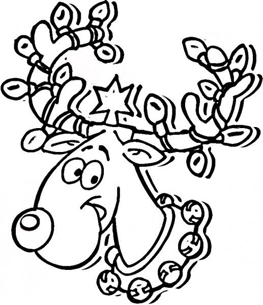 517x600 Christmas Holiday December With Light Bulb Picture Coloring Pages