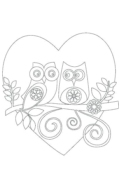 414x640 Valentine Card Coloring Pages Valentines Day Cards Valentines Day
