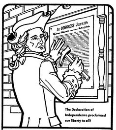 Declaration Of Independence Coloring Page At Getdrawings Com Free