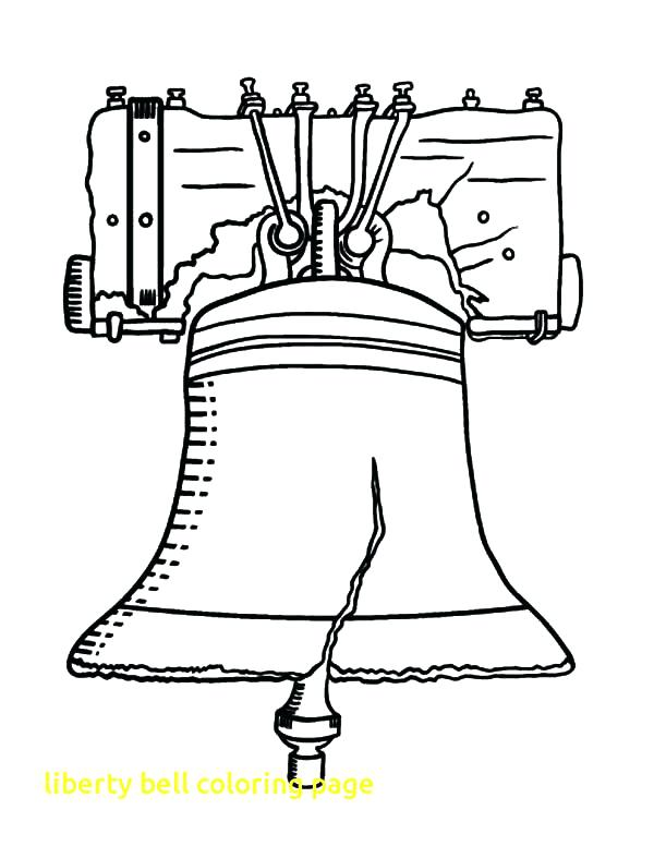 600x776 Bell Coloring Page Drawing Liberty Bell Coloring Pages Free