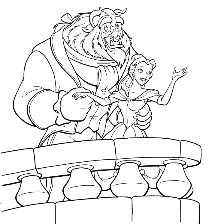 736x748 Coloring Disney Pages Coloring Pages Belle Full Size Of Coloring