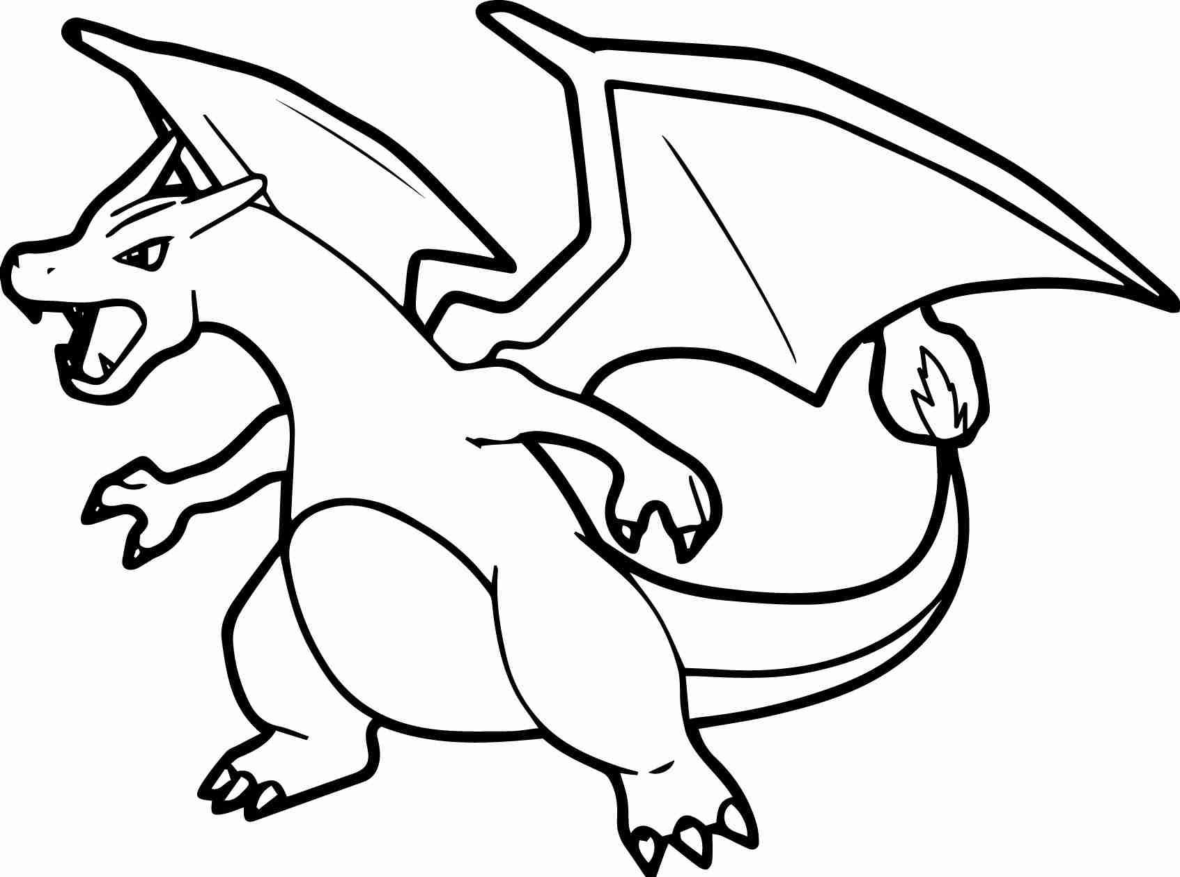 1694x1260 Coloring Pages Decorative Pokemon Mega Charizard Striking Olegratiy