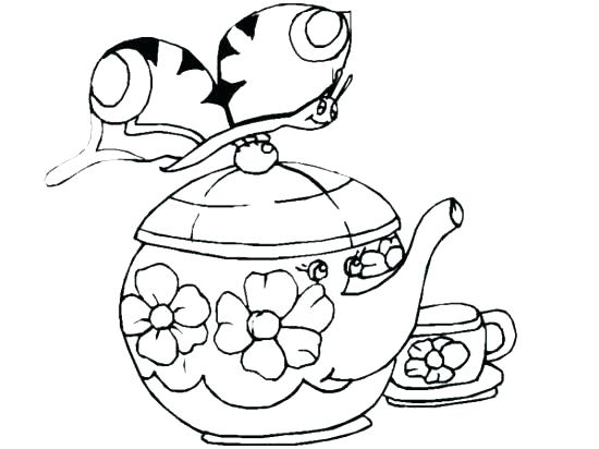550x412 Decorative Teapot Coloring Pages Teapot Coloring Page Beauty