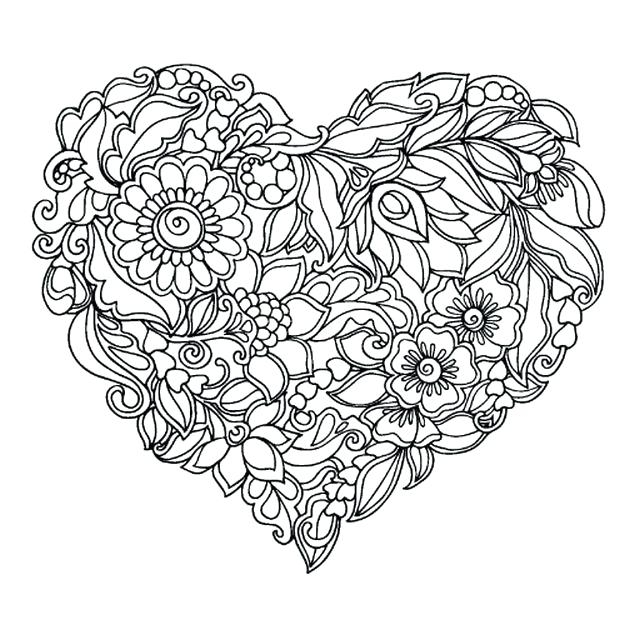625x625 Love Coloring Pages For Adults Interesting Coloring Book Hearts As