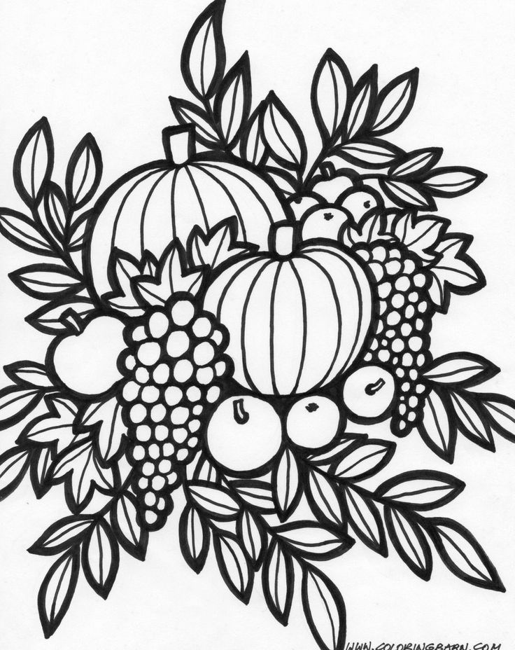 736x928 Best Fall, Halloween Thanksgiving Coloring Pages Images