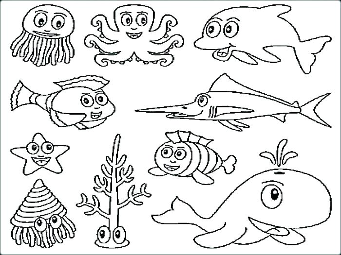 700x525 Deep Sea Creatures Coloring Pages Sea Creature Coloring Pages