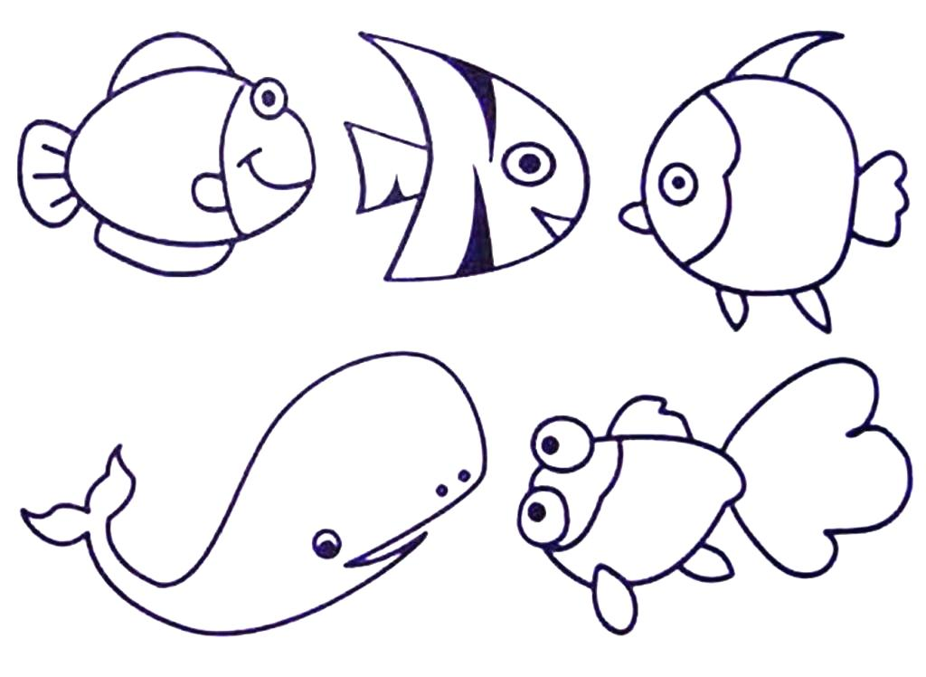 1024x748 Sea Creature Coloring Pages Sea Animals Coloring Coloring Pages