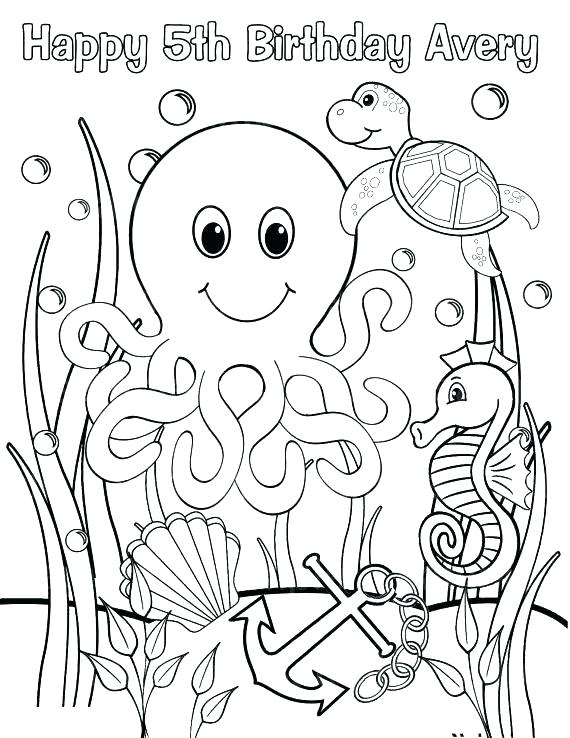 570x738 Sea Monster Coloring Pages Sea Creature Coloring Pages Coloring