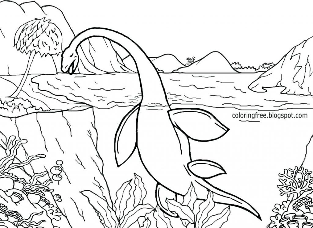 1024x745 Coloring Page Sea Creatures Coloring Pages Amazing With Park