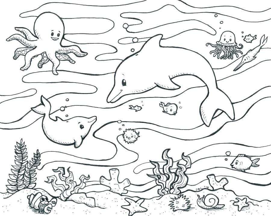 900x717 Underwater Sea Coloring Pages Deep Sea Creatures Coloring Pages
