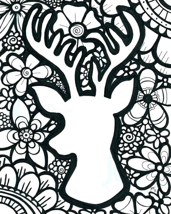 570x713 Deer Coloring Pages John Printable Deer Coloring Pages For Adults