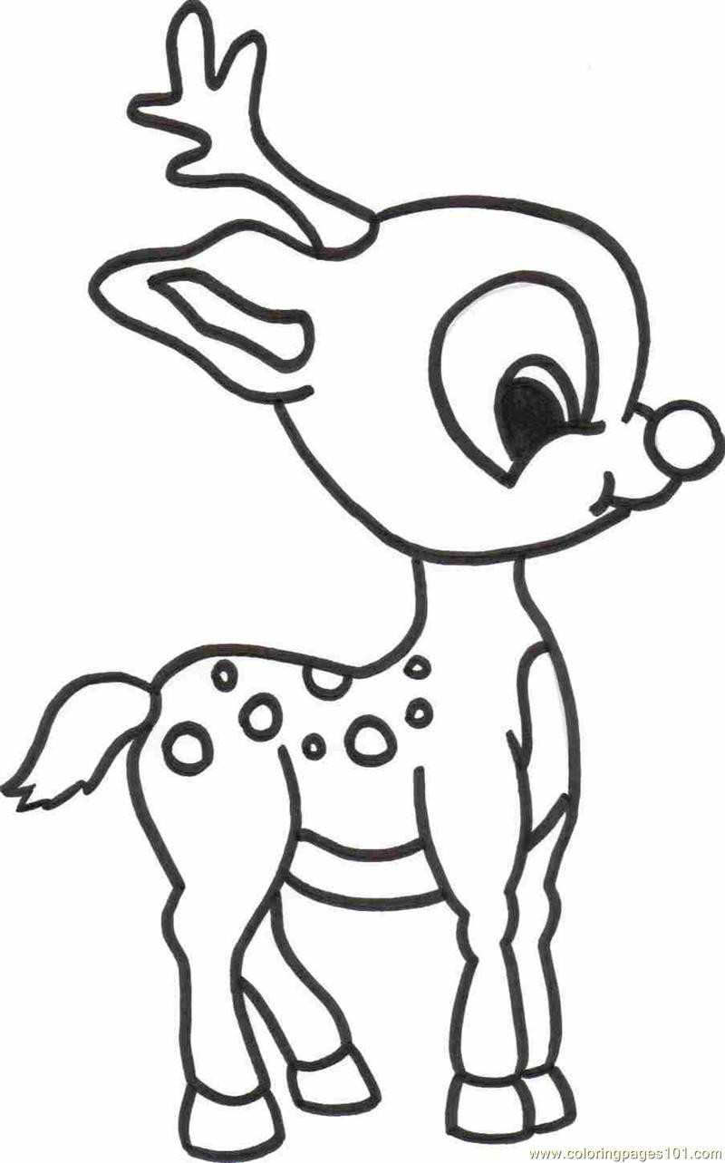800x1283 Baby Deer Coloring Page Free Pages Unbelievable Wagashiya