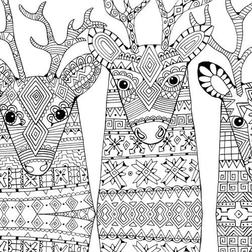 500x500 Christmas Coloring Pages For Adults