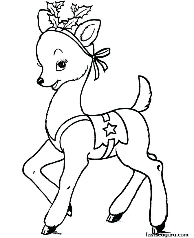 670x820 Baby Deer Coloring Pages
