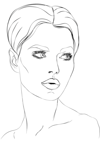 340x480 Woman S Face Coloring Page Free Printable Pages In Ideas