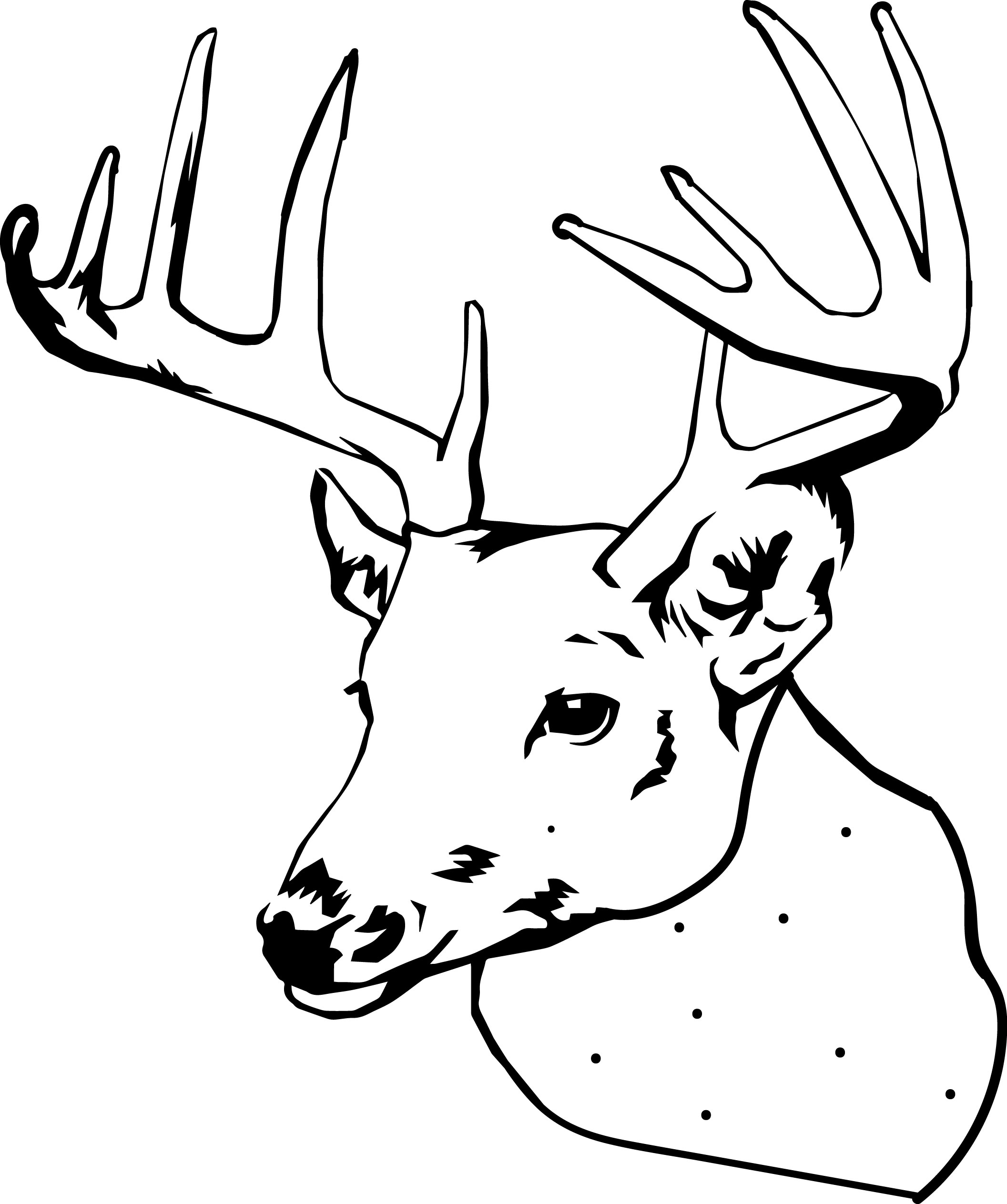 2113x2527 Deer Head Coloring Pages Awesome Deer Head Coloring Pages