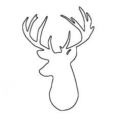 236x236 Stag Head Pattern Use The Printable Outline For Crafts, Creating