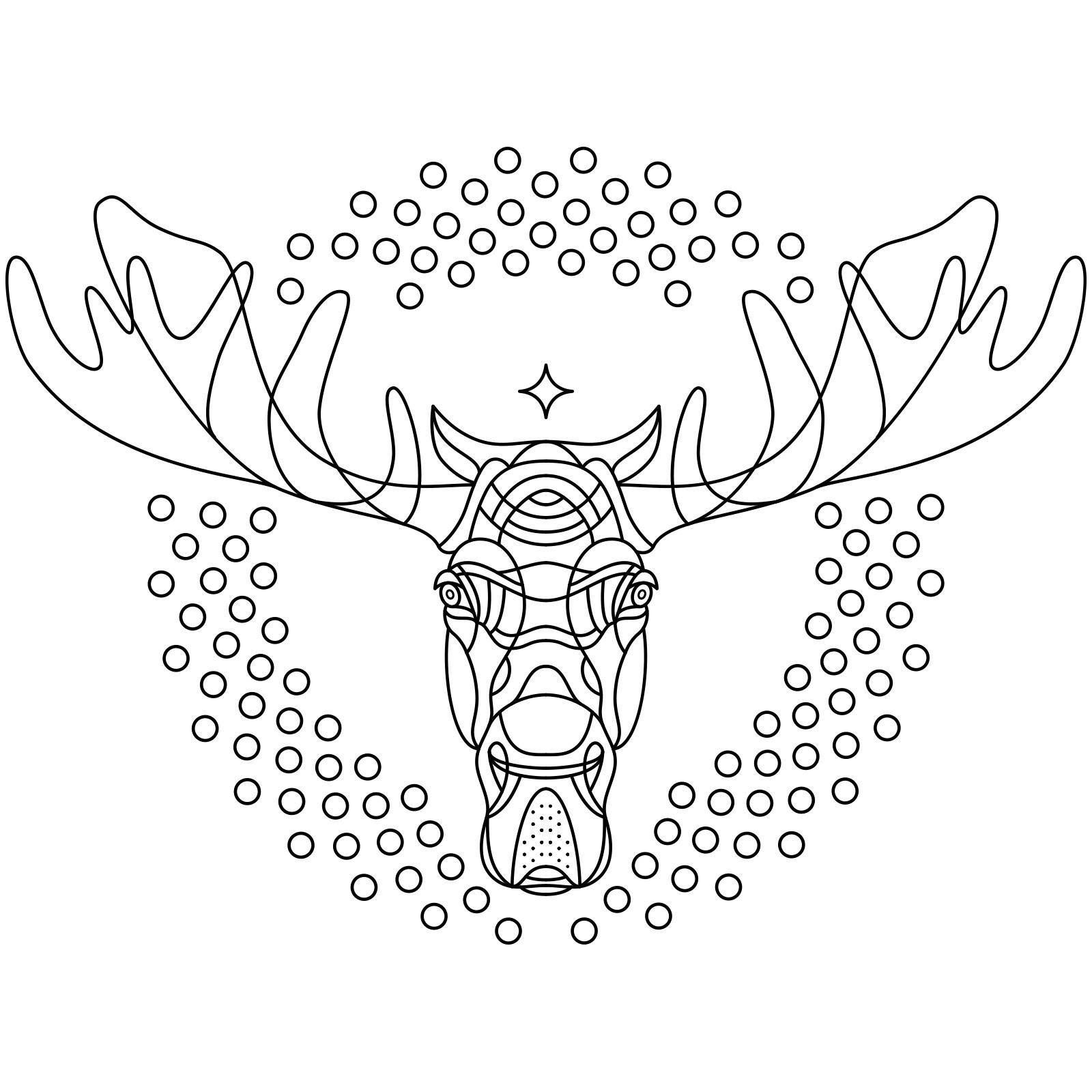 1600x1600 Top Elk Coloring Pages Page Free Printable Printable