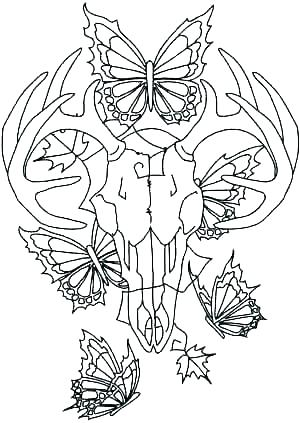 300x423 Whitetail Deer Coloring Pages Deer Coloring Page Whitetail Deer
