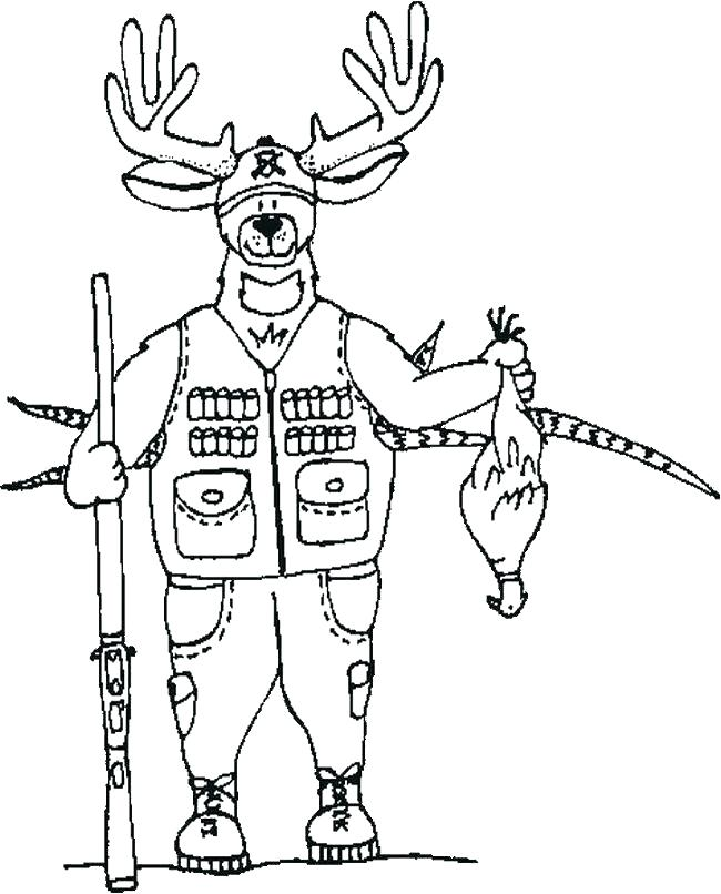 650x806 Deer Hunting Coloring Pages Hunting Coloring Pages Deer Hunting