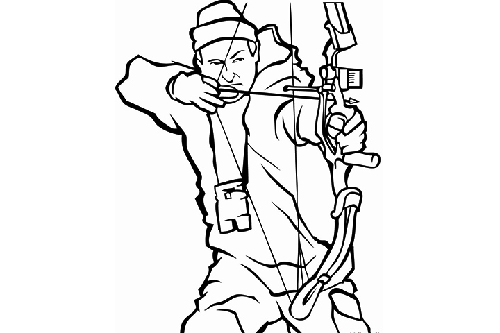 720x480 Duck Hunting Coloring Pages
