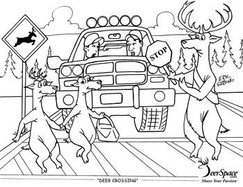 350x270 Agreeable Deer Hunting Coloring Pages Coloring In Fancy Deers