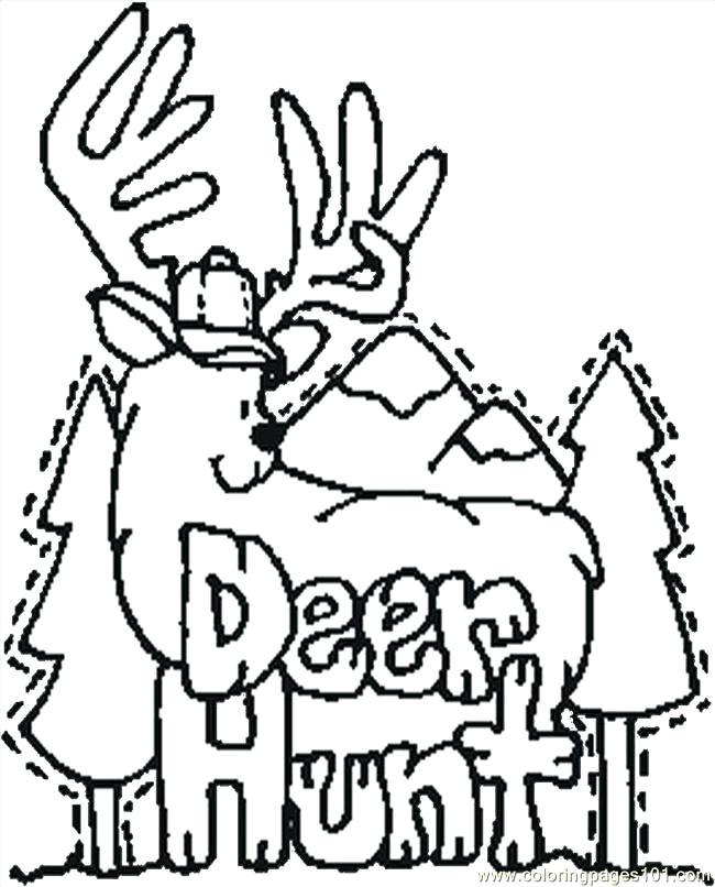 650x806 Hunting Coloring Pages Elk Coloring Page Hunting Coloring Pages