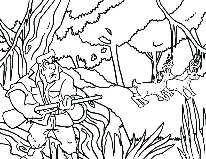 850x654 Hunting Coloring Pages Free Free Deer Coloring Pages Deer Coloring