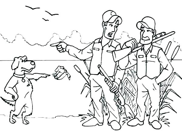 600x463 Coloring Page Of Dog Hunting Coloring Pages Deer Hunting Coloring