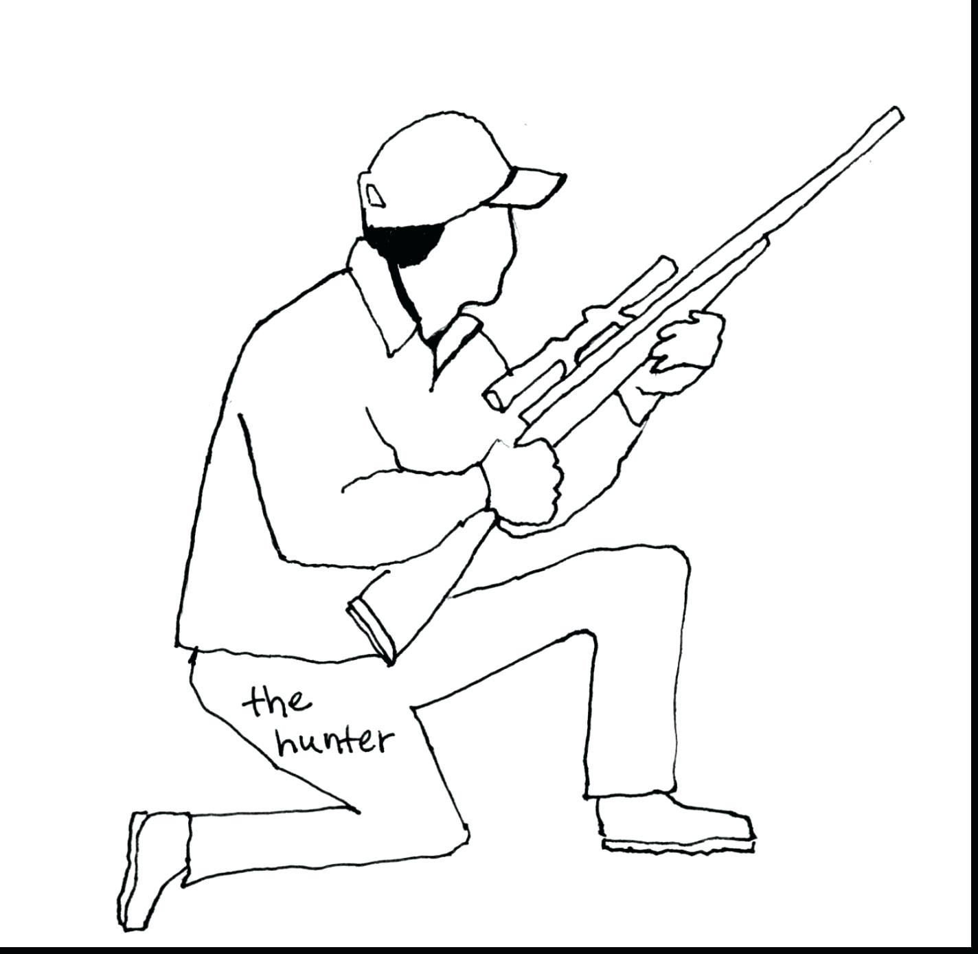 1424x1389 Deer Hunter Coloring Pages
