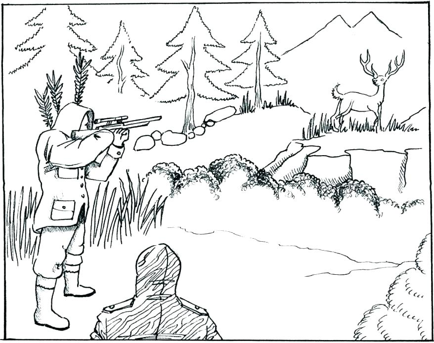 878x694 Hunting Coloring Pages Hunting Coloring Pages Deer Coloring Pages